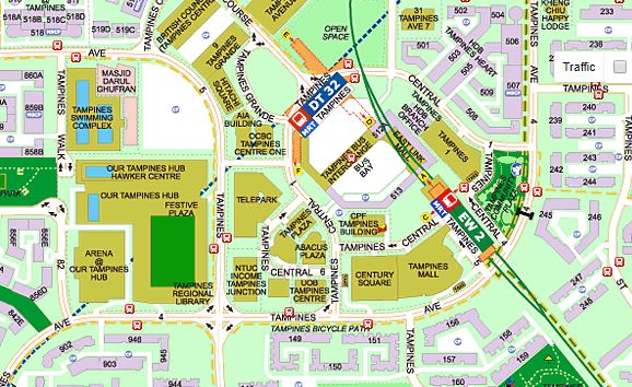 Tampines Central Map