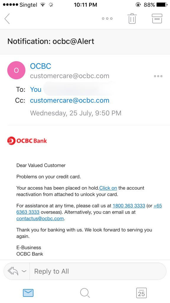 OCBC Phishing