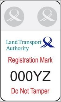e-scooter registration mark